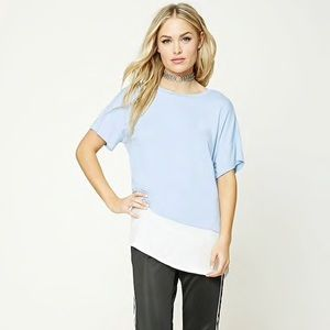 Contemporary Vented Layered Tee